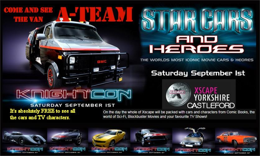 Our A Team Van Took Part In The Stars Cars Heroes Motor Show At Xscape Castleford September 2012